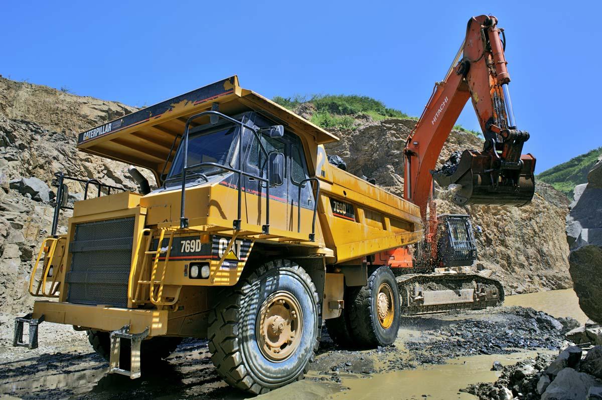 Mine de graviers à Saint-Pierre de la Martinique