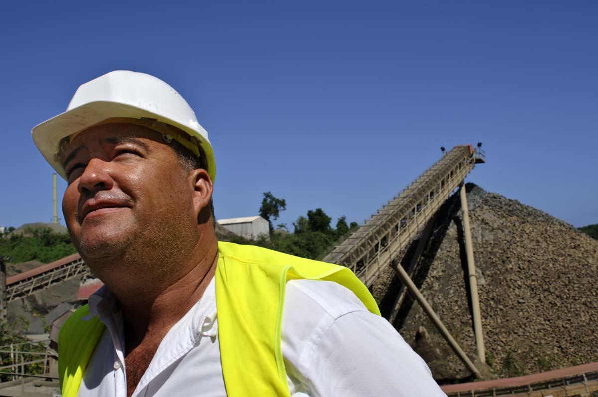 Responsable d'une raffinerie de granulats à Saint-Pierre de la Martinique