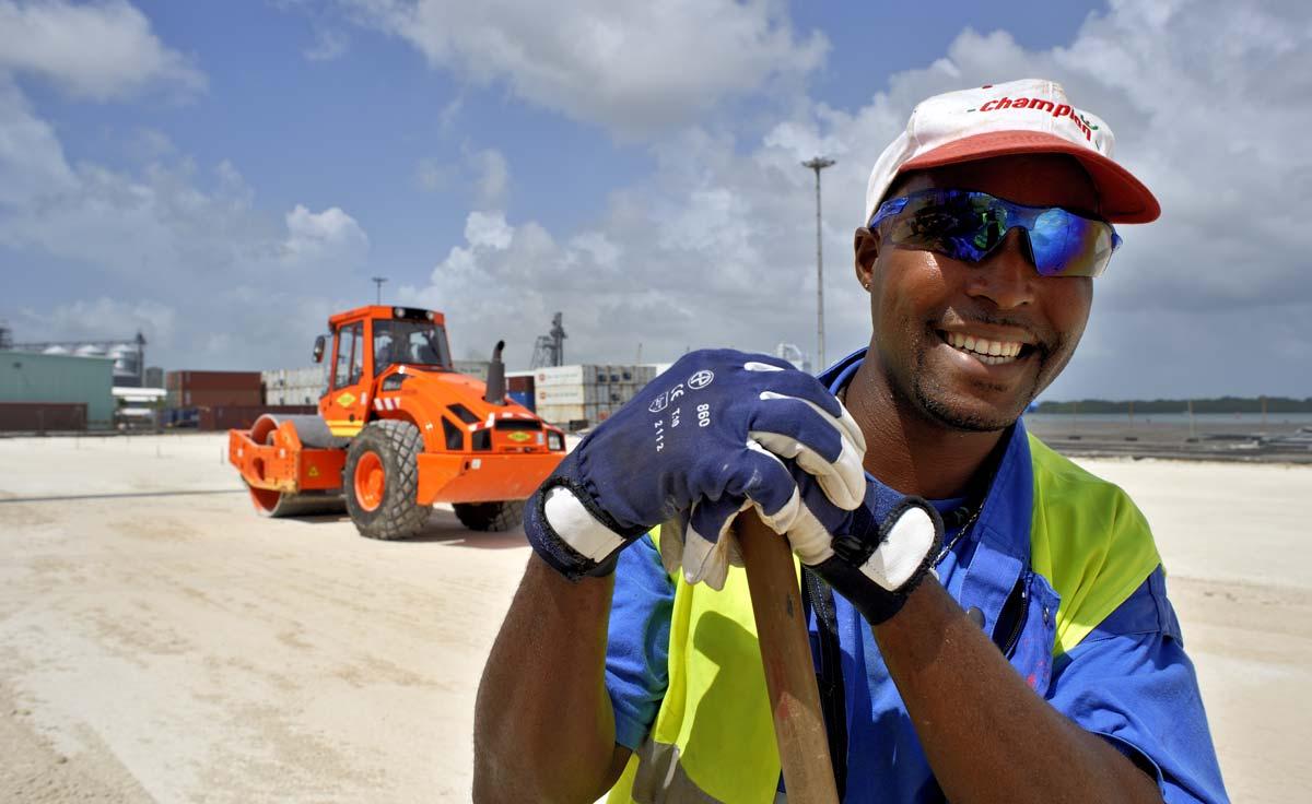 Chantier de l'aéroport de la Dominique