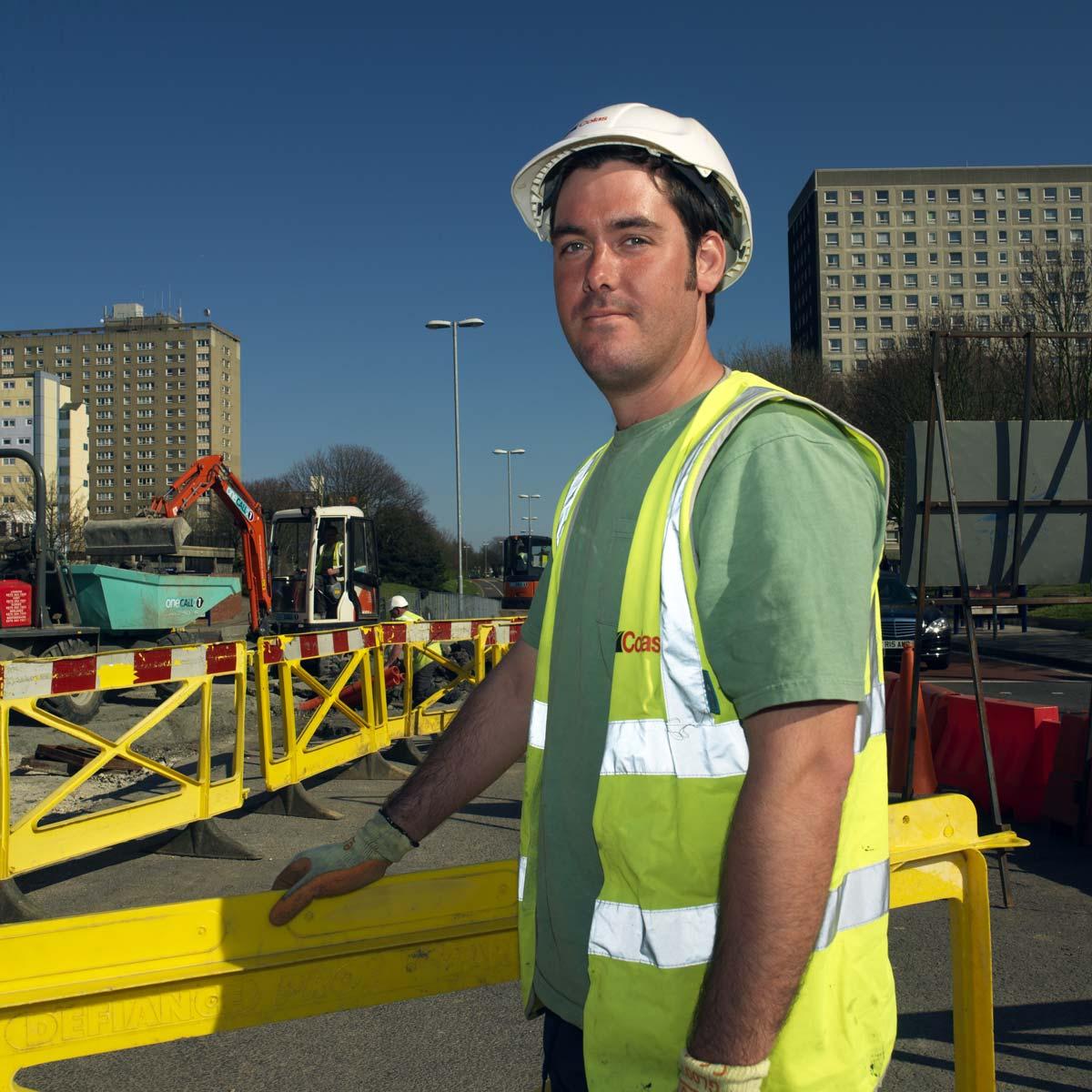 Travaux de réfection de chaussées à Portsmouth